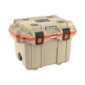 Pelican 30QT Elite Coolers, 32.95 qt, 19 inx 25.3 in x 18.5 in, Tan/Orange, 1 EA, #30Q2TANORG