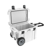 Pelican 45QW Elite Wheeled Coolers, 45 qt,  20 in x 29.66 in x 19.25 in, White, 1 EA, #45QW1WHT