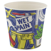 Solo Double-Wrapped Paper Buckets, 165 oz, White, 100/CA, #SCC10T1UU