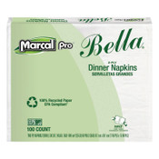 MARCAL PRO 100% Premium Recycled Bella Dinner Napkins, 15 x 17, White, 1 CT, #MRC06410