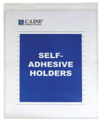 C-Line Products,Inc. Self-Adhesive Vinyl Shop Ticket Holders 8-½ x 11, 25/BX, #CLI70911