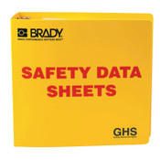 Brady Ghs Safety Data Sheet Binders, English, 3 In, Yellow, 1/EA, #121184