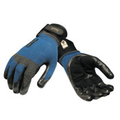 Ansell ActivARMR Heavy Laborer Gloves, Large, Black/Blue, 12 Pair, #106421