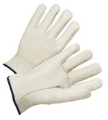 Anchor Products 4000 Series Quality Grain Cowhide Leather Driver Gloves, Large, Unlined, Natural, 12/DOZ, #990IL