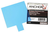 Anchor Products Cover Lens, Jackson, Inside Cover Lens, 5 1/4 in x 4 1/2 in, 100% Polycarbonate, 50/BX, #UV2739J