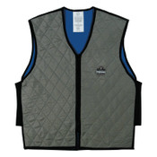 Ergodyne Chill-Its 6665 Evaporative Cooling Vests, Large, Gray, 1/EA, #12544