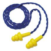 3M E-A-R Ultrafit Earplugs, Elastomeric Polymer, Yellow, Corded, Paper Envelope, 100/BX, #7000127218