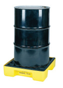 Eagle Mfg 1-Drum Modular Platforms, Yellow, 2,000 lb, 15 gal, 26 in x 26 1/4 in, 1/EA, #1633