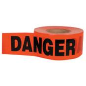 C.H. HANSON Barricade Tape, 3 in x 1,000 ft, Red, Danger, 1/EA, #16003