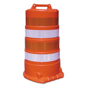 TrafFix Devices, Inc. Channelizer Drum Only, 16 in, LDPE/HDPE Blend, Orange, 1/EA, #18044TBHIPNB