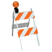 TrafFix Devices, Inc. All Plastic Type II Barricades, 8 in x 24 in Panels, LDPE, White, 1/EA, #35408EG14