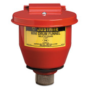 Justrite Small Funnel with Self-Closing Cover, 1/EA, #8201