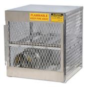 Justrite Aluminum Cylinder Lockers, (4) 20 or 33 lb. Cylinders, 1/EA, #23001