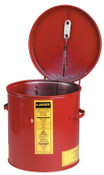 Justrite Dip Tanks, Hazardous Liquid Cleaning Tank, 2 gal, Red, 1/EA, #27602