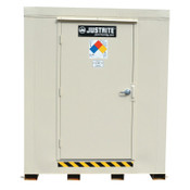 Justrite 4-Hour Fire-Rated Outdoor Safety Locker, Explosion Relief, (9) 55-gallon drums, 1/EA, #913091