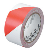 3M Hazard Marking Vinyl Tape, 2 in x 36 yd, Red/White, 1/ROL, #7000148378