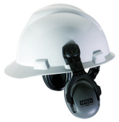 MSA Sound Control Cap Earmuffs, 27 dB NRR, Gray, NRR 27 Brackets, 1/PR, #10061272