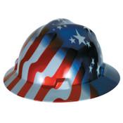 MSA Freedom Series V-Gard Helmets, Fas-Trac III, 6 1/2 - 8, American Stars & Stripes, 1/EA, #10071157