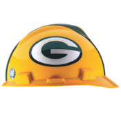 MSA Officially-Licensed NFL V-Gard Helmets, 1-Touch, Green Bay Packers Logo, 1/EA, #818395