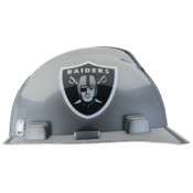 MSA Officially-Licensed NFL V-Gard Helmets, 1-Touch, Oakland Raiders Logo, 1/EA, #818405