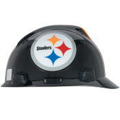 MSA Officially-Licensed NFL V-Gard Helmets, 1-Touch, Pittsburgh Steelers Logo, 1/EA, #818407