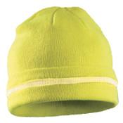 OccuNomix Hi-Viz Knit Caps, Hi-Viz Lime Yellow, 1/EA, #luxkcrhvy