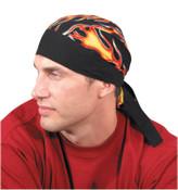 OccuNomix Tuff Nougies Regular Tie Hats, One Size, Big Flames, 1/EA, #TN5FLA