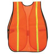 MCR Safety Safety Vests, One Size Fits Most, Orange w/Lime Stripe, 1/EA, #V211R
