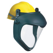 Honeywell Bionic Face Shield with Hard Hat Adapter, Clear/Black, 11 in, 1/EA, #S8505
