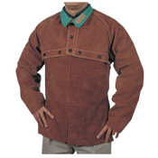 Best Welds Split Cowhide Cape Sleeves, Snaps Closure, 2X-Large, Lava Brown, 1/EA, #6502XL