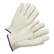 Anchor Products 4000 Series Quality Grain Cowhide Leather Driver Gloves, Small, Unlined, Natural, 12/DZ, #990IS
