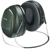3M Optime 101 Earmuffs, 26 dB NRR, Dark Green, Behind the Head, 10/CA, #7000002329