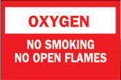 Brady Chemical & Hazardous Material Signs, Oxygen/No Smkg/No Open Flames, Plstc,Rd/Wt, 1/EA, #75447325138