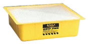 "Eagle Mfg Polypropylene-Filled Drip Pan, Yellow, 10 1/2"" x 10 1/2"" x 3"", 1/EA, #1670"