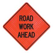 Cortina Road Work Ahead Signs, Road Closed Ahead, Orange, 1/EA, #078004037L