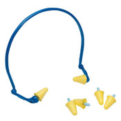 3M E-A-Rflex Hearing Protector with Foam Tips, Foam, Blue/Yellow, Banded, 10/BX, #7000052717