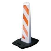 TrafFix Devices, Inc. Vertical Barricade Premier Panels, 2-Sided, 8 x 36, , LDPE, HI White/Orange,, 1/EA, #40236WEG20
