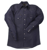 LAPCO 1000 Blue Denim Shirts, Denim, 17-1/2 Long, 1/EA, #DS1712L