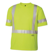 Pioneer 6901AU Class 3 Work High Visibility Short Sleeve T-Shirt, 2X-Large, Yellow/Green, 1/EA, #V1052160U2XL