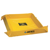 Justrite Maintenance Spill Containment Berms, Yellow, 40 gal, 4 ft x 4 ft, 1/EA, #28406