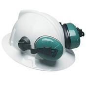 MSA Sound Control SH Earmuffs, 25 dB NRR, Green, Helmet, 1/EA, #10034487