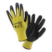 Anchor Products Nitrile Coated Kevlar Gloves, Medium, Yellow/Black, 1/PR, #6010M