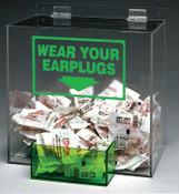 Brady Large Capacity Ear Plug Dispensers, For Standard Box of 200 Disposable Ear Plugs, 1/EA, #PD439G