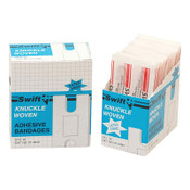 Honeywell Adhesive Bandages, Knuckle, 3 1/4 in x 3 15/16 in, Fabric, 1/BX, #013940H5