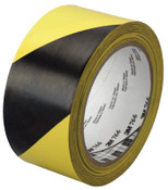 3M Hazard Marking Vinyl Tape, 2 in x 36 yd, Black/Yellow, 1/ROL, #7000028955