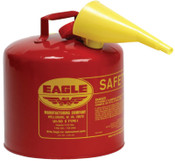 Eagle Mfg Type l Safety Cans, Gas, 2 gal, Red, Funnel, 1/CN, #UI20FS