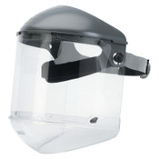 Honeywell Dual Crown Faceshield Systems, 4 in Crown, 3C Ratchet, Clear, 1/EA, #FM400DCCLC