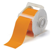 Brady GlobalMark Series Indoor-Outdoor Vinyl Labels, 2.25 in x 100 ft, Orange, 1/RL, #113152