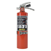 Ansul SENTRY Dry Chemical Hand Portable Extinguisher, Class ABC Fires, 2.5lb Cap. Wt., 1/EA, #438735A02SVB