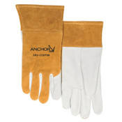 Anchor Products MIG/TIG Welding Gloves, Firm Leather Cuff, Soft Grain Pigskin, X-Large, Tan, 1/PR, #50TIGXL